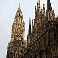first view of Neues Rathaus (New Townhall) from Marienplatz
